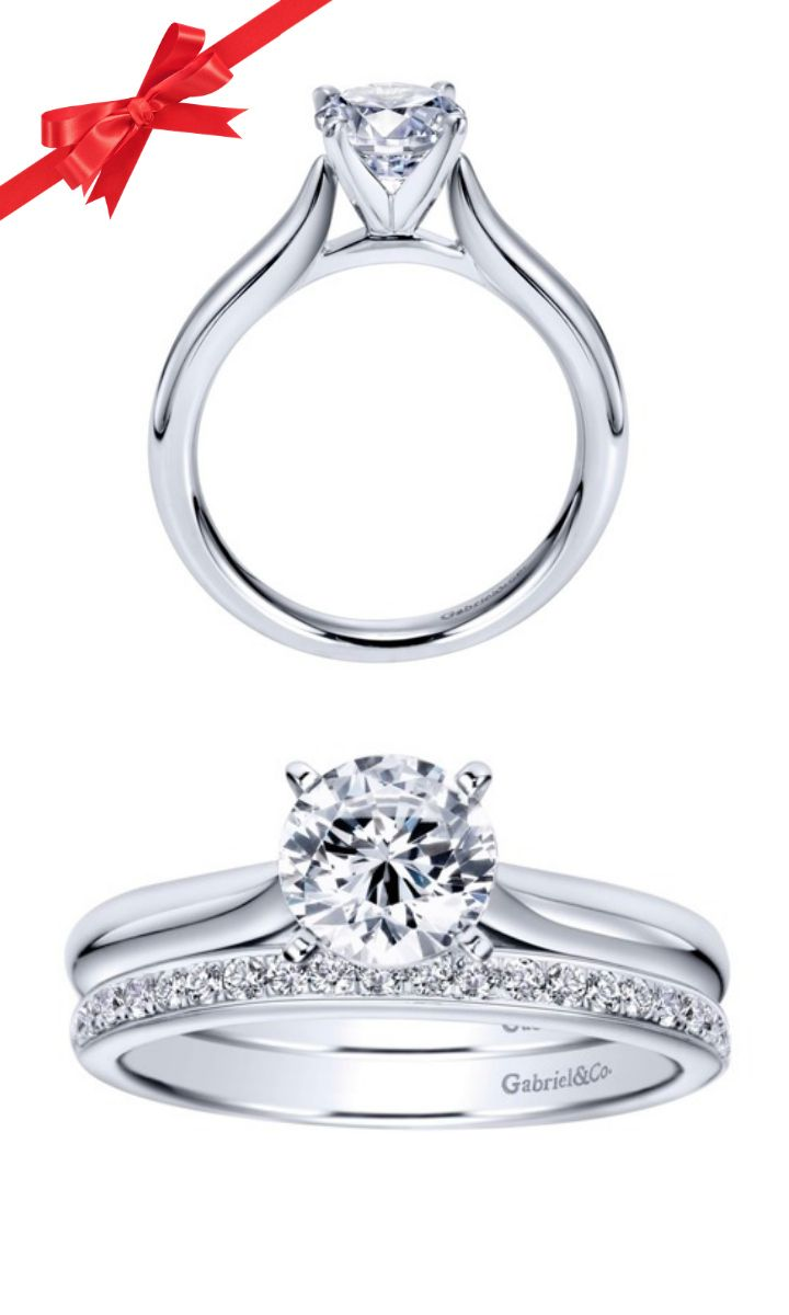 Perfect This simple yet elegant white gold solitaire engagement ring is absolute perfection Discover this perfect engagement ring or customize your own on our