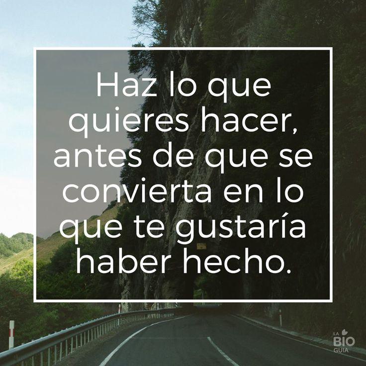 ❝ Haz lo que quieres hacer, antes de que... #BuenosDias #FelizDomingo ❞ ↪ Vía: proZesa