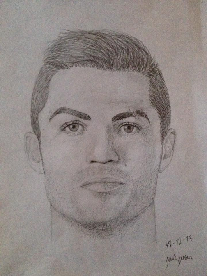 One of my favorite football soccer players cristiano - Dessin cristiano ronaldo ...