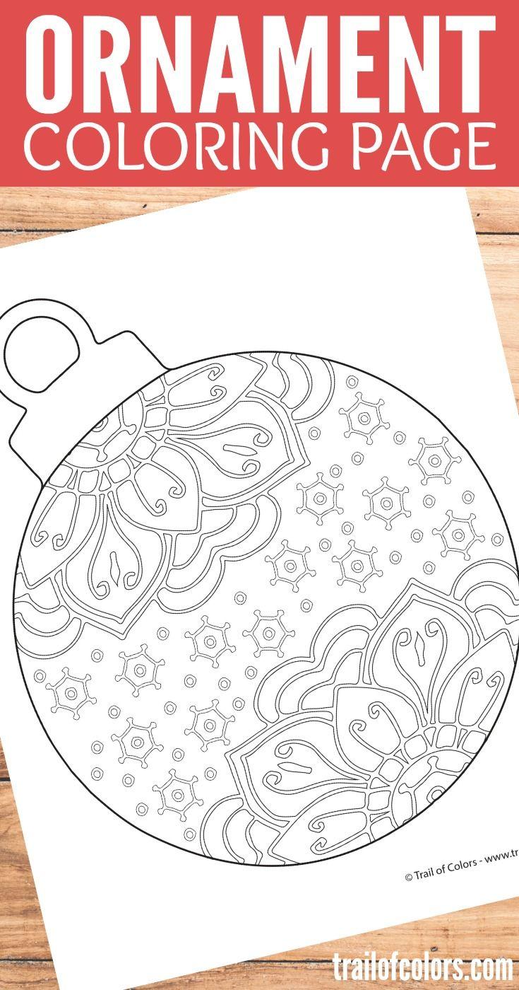 Ho ho holiday printouts to color - Christmas Ornament Coloring Page