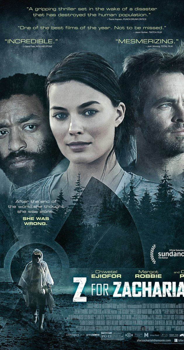 Z for Zachariah (2015). In the wake of a disaster that wipes out most of civilization, two men and a young woman find themselves in an emotionally charged love triangle as the last known survivors.
