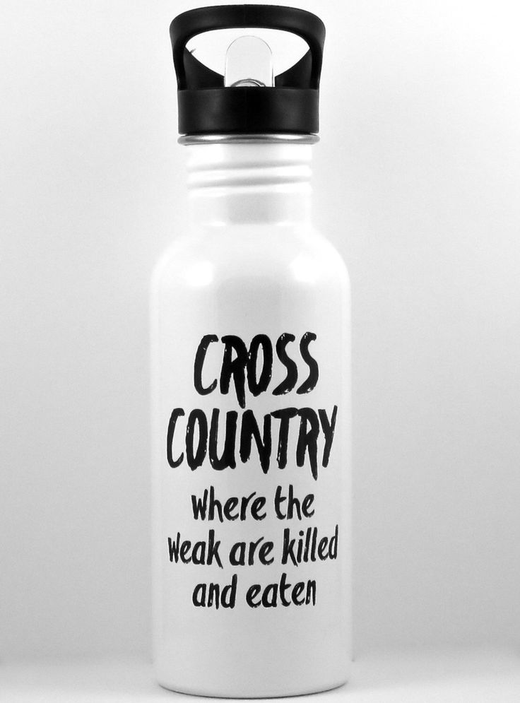 cross country running waterbottle, stainless steel water bottle for runner, sports bottle, high school cross country, college runner, XC CC by QuipsAndGrins on Etsy https://www.etsy.com/listing/245788268/cross-country-running-waterbottle