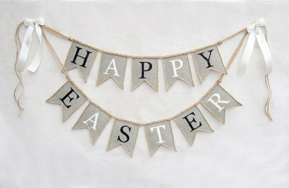 Hey, I found this really awesome Etsy listing at https://www.etsy.com/listing/222692037/happy-easter-banner-burlap-happy-easter