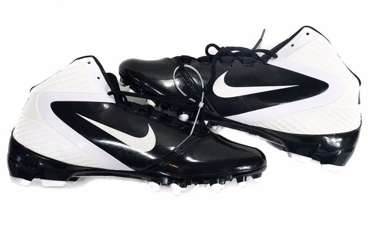 MENS NIKE ALPHA SPEED FOOTBALL CLEATS SHOES BLACK / WHITE 442244-010 - SIZE 14 #Nike #football #cleats #footballcleats #sports #sportsgear #footballgear #footballseason