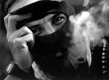Subcomandante Marcos. Rebel against mexican goverment's treatment of indigenous peoples.