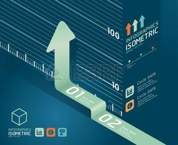 Ayrıntılı infografik ok diyagramı grafik Infographics grafik veya reklam düzen vektör çizim için kullanılabilir photo