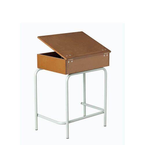 Box School Desk with Top Open