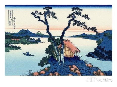 Lake Suwa in the Shinano Province Giclee Print by Katsushika Hokusai at AllPosters.com