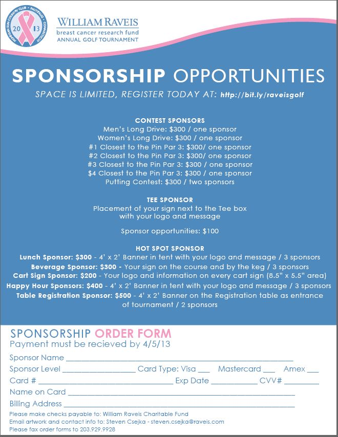 75 best Golf⛳ Tournament Fundraiser images on Pinterest Archery - free sponsorship form template