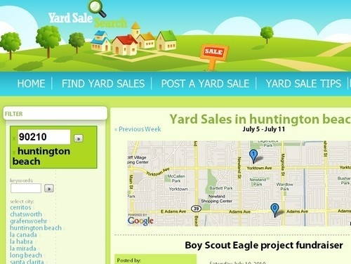 Yard sale search catalogs: sales across your locale...