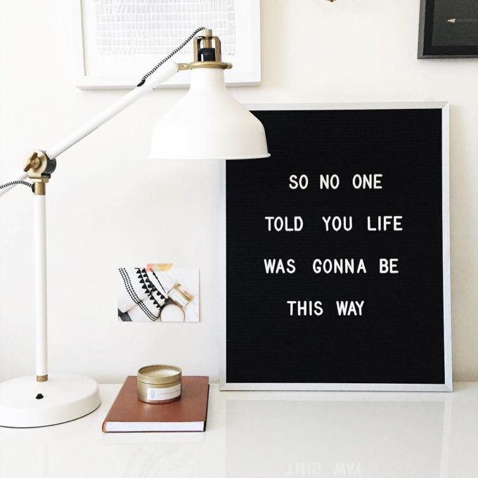 The Coolest Customizable Art: Felt Letter Boards and Black Light Boxes, plus where to buy them. (Friends Felt Letterboard Sign)