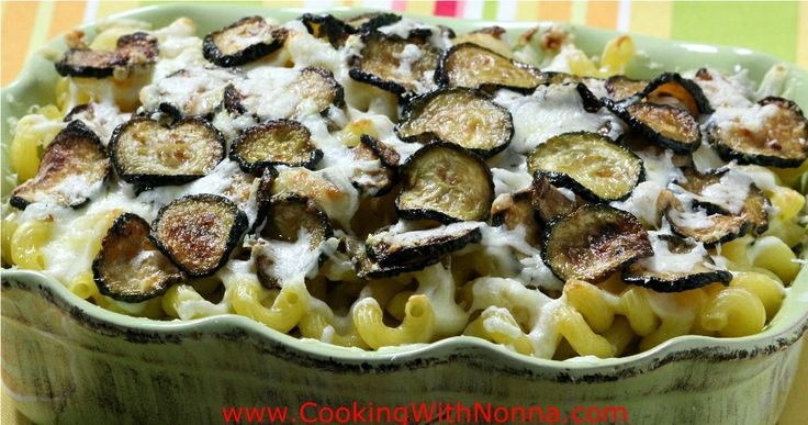 3 Cheese Baked Pasta with Zucchini and Bechamel