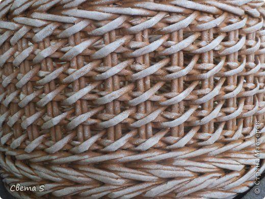 Мастер-класс Поделка изделие Плетение Корзины для овощей - Бумага газетная Трубочки бумажные фото 4