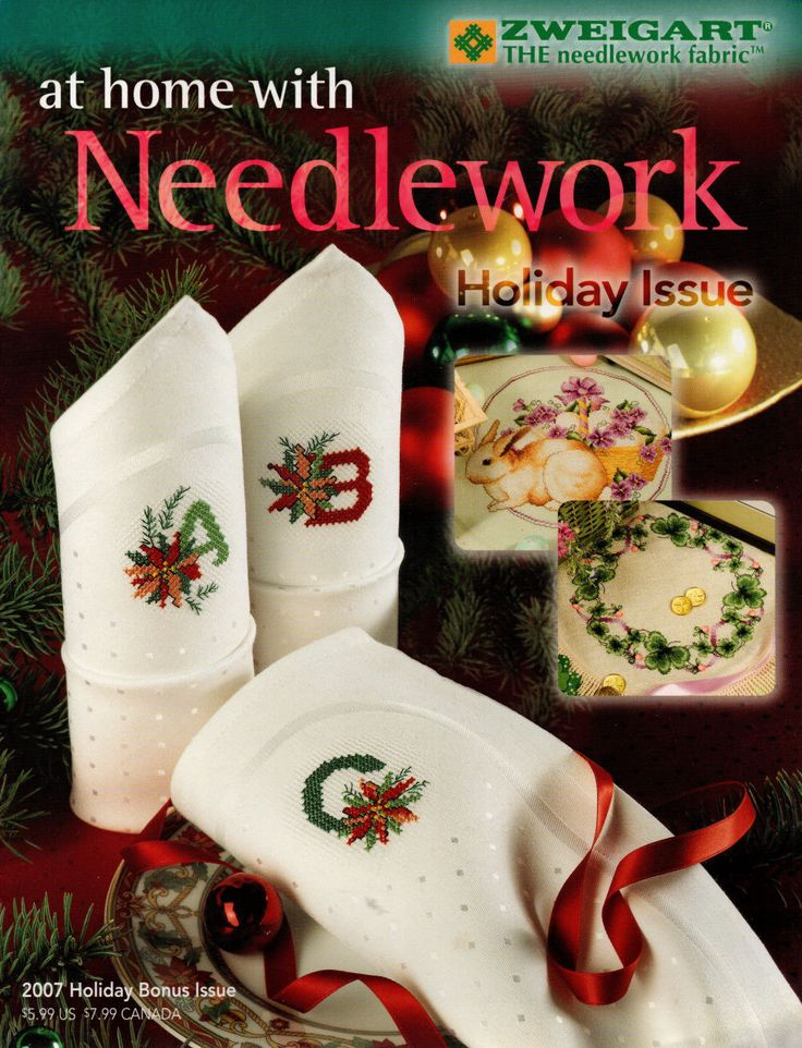 Cross Stitch Magazine At Home with Needlework 2007 Holiday Bonus Issue, DIY Craft Magazine, New and Mint Condition, Christmas Edition, Xmas by NeedleAndCrafts on Etsy