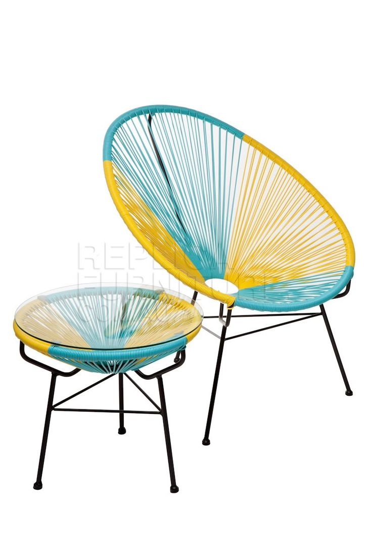 Acapulco chair outdoor - Acapulco Chair With Table