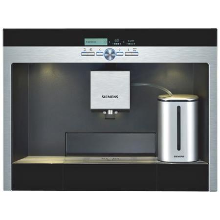 Siemens TK76K573 - Cafetera integrable, molinillo cerámico y  depósito de leche