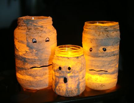 Halloween Kids Crafts - 25 Spooky Ideas! These would be neat to set outside on Halloween but bigger!