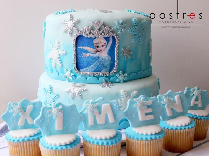 Torta Frozen #frozen #tortastematicas #mesasdeduces #postresyotrasdelicias
