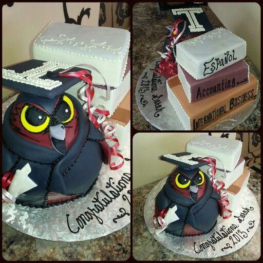 Temple owl theme graduation cake 2013 #graduation 484.679 ...