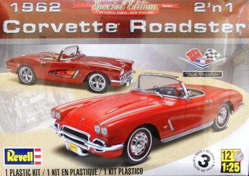 REVELL 1:25 1962 Corvette Roadster  Niveau 3 46.99$ Achetez-le info@laboiteasurprisesdenicolas.ca