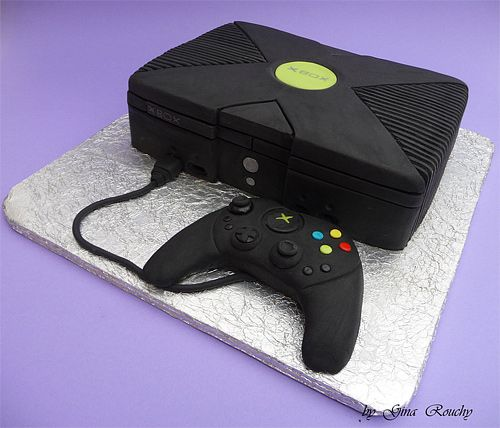 X box game console unusual cake design cool