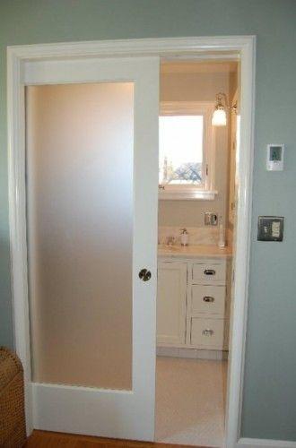 pocket door bathroom remodel pinterest