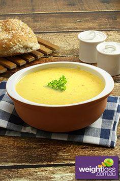 Corn & Bacon Chowder Recipe. #HealthyRecipes #WeightLossRecipes #ChowderRecipes weightloss.com.au