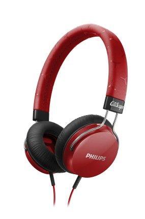 Philips - Słuchawki czerwone/bordowe nauszne - Fixie Citi Scape