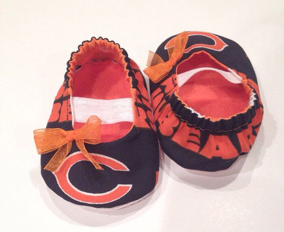 Chicago Bears Baby Maryjane Booties by saluna on Etsy obviously getting these