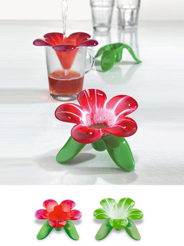 """""""Audrey"""": Colador para el té y hierbas en forma de flor. Ahora tus infusiones tendrán toda la belleza y sutileza de las flores."""