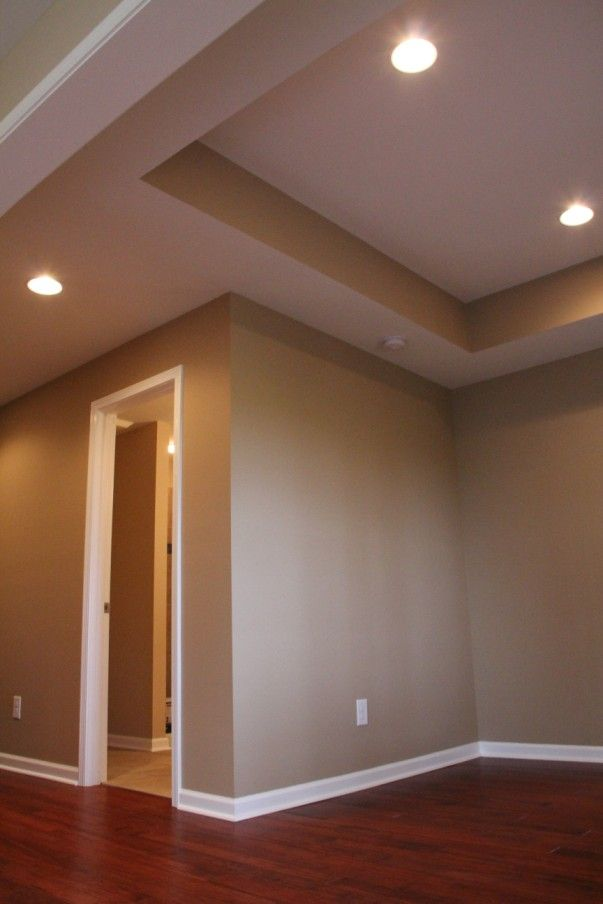 Basement Remodeling In Atlanta Ga Amaretto Bamboo Flooring With Toasted Wheat Walls By Behr