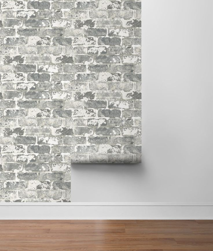 Self Adhesive Wallpaper Brick Peel And Stick Gray Brick