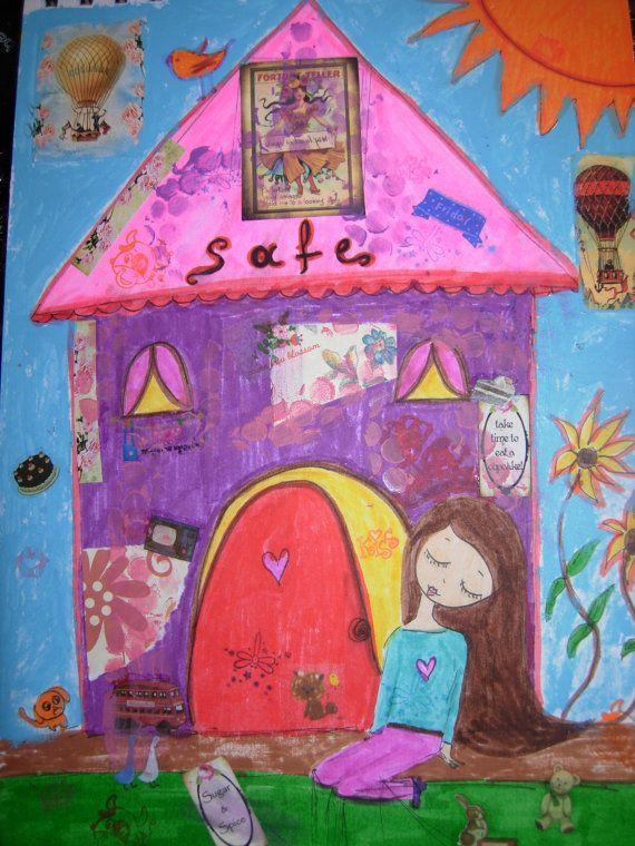 Safe  Art journal/sketchbook/notebook/dreambook/life by eltsamp, $53.00
