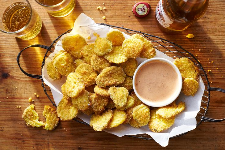 Fried Pickle Chips Recipe and Roundhouse Kick-sauce