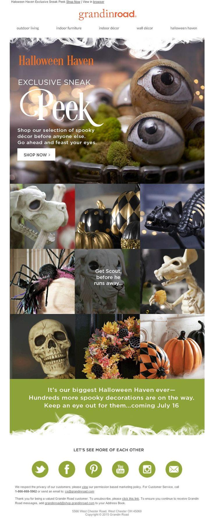 grandin road sl halloween haven 2015 the most thrilling sneak peek ever - Halloween Haven