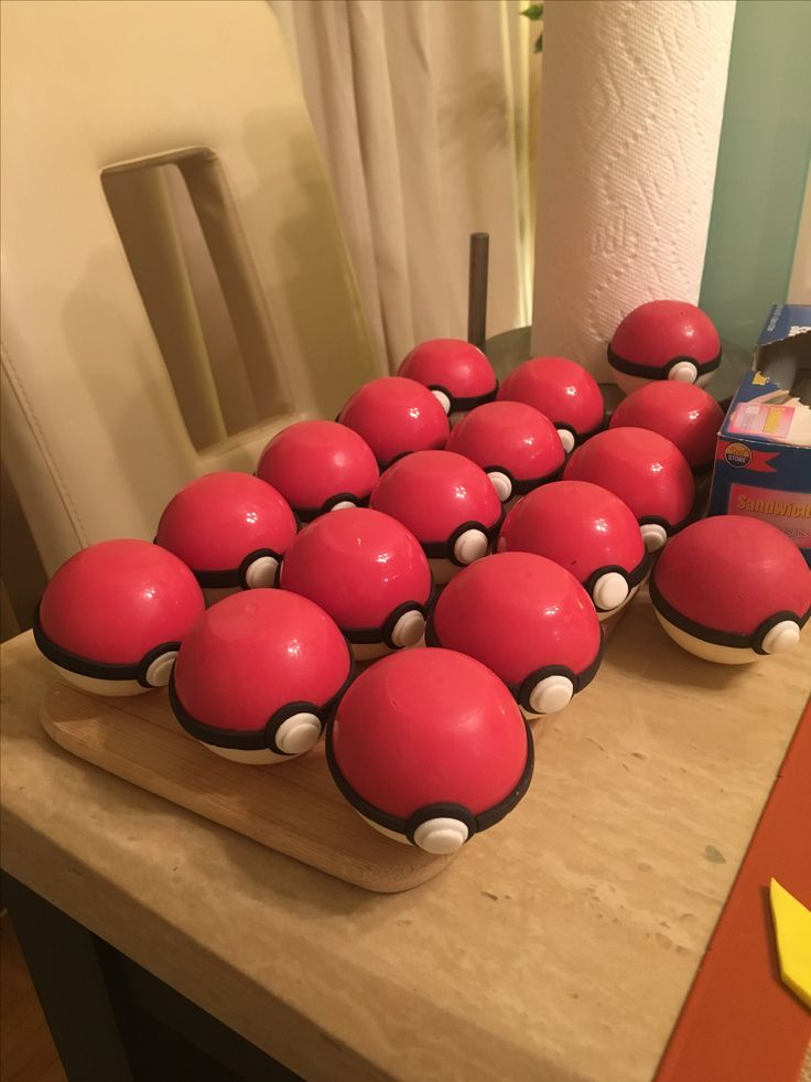 Chocolate pokeballs