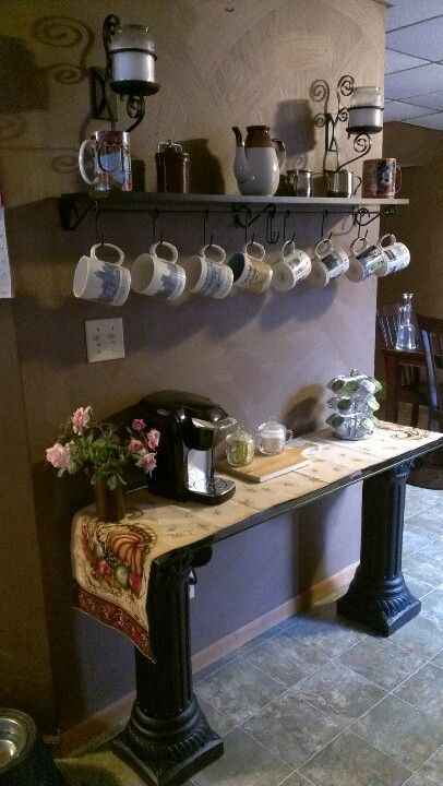 My new coffee bar  =):