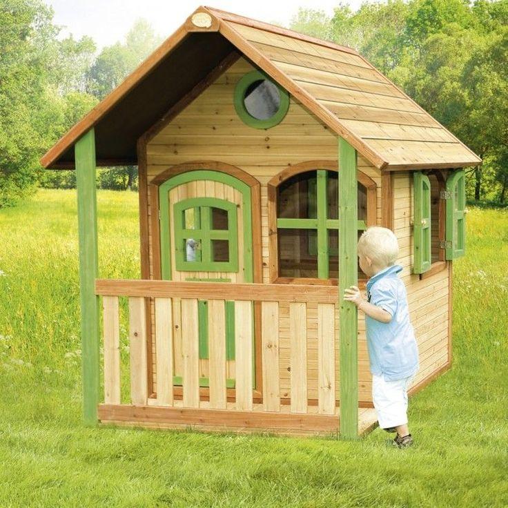Kids Outdoor Playhouse Garden Play Backyard Wooden Activity Lodge Porch Camping #KidsOutdoorPlayhouse