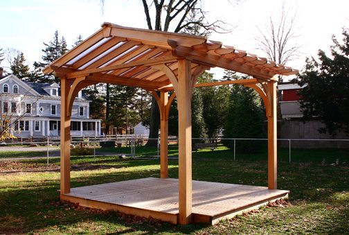 Pergola With Acrylic Panels Designed For A Day Care