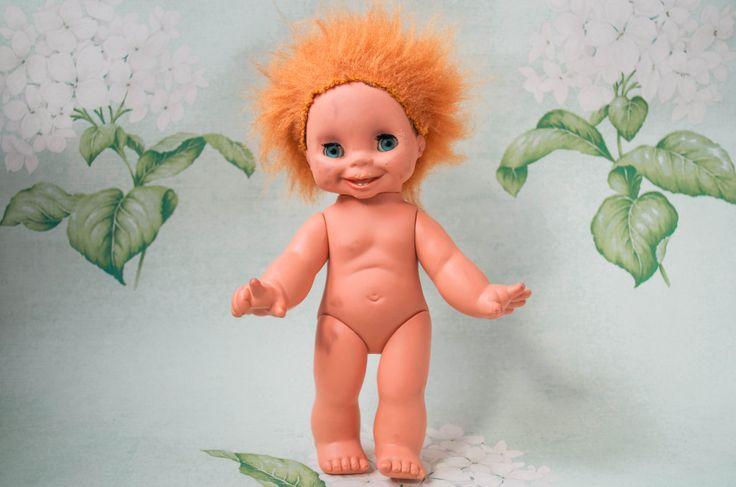 Кукла (улыбка, один зуб, рыжие волосы, происхождение неизвестно, 1980?). Поиск игрушек, детских книг и настольных игр СССР -  http://doska-obyavleniy-detstva.blogspot.ru/