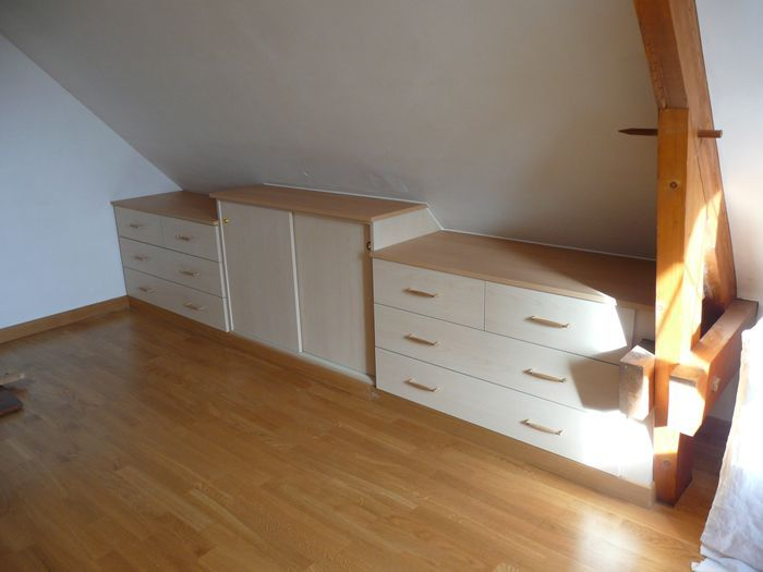 Am nagement de combles placo isolation cloisons for Chambre avec plafond en pente