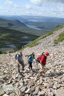 Climbing to the top of Gros Morne Mountain