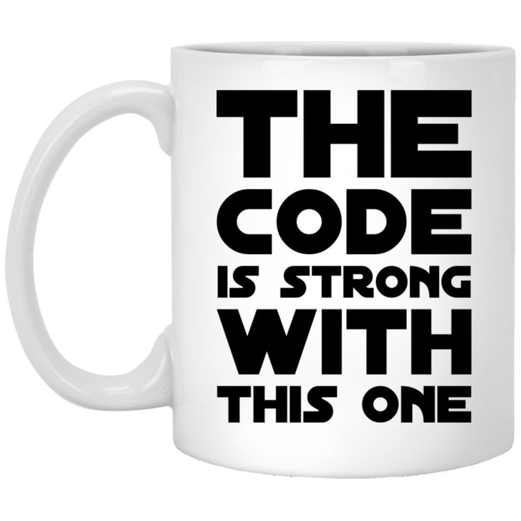 The Code is strong with this one  Mug