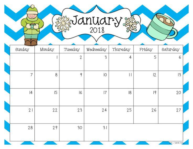 Free 2018 And 2019 Calendar Editable Monthly Calendar