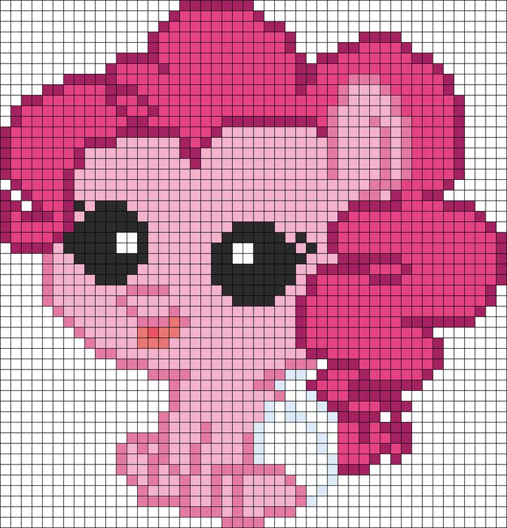 My Little Pony Newborn Pinkie Pie Perler Bead Pattern / Bead Sprite