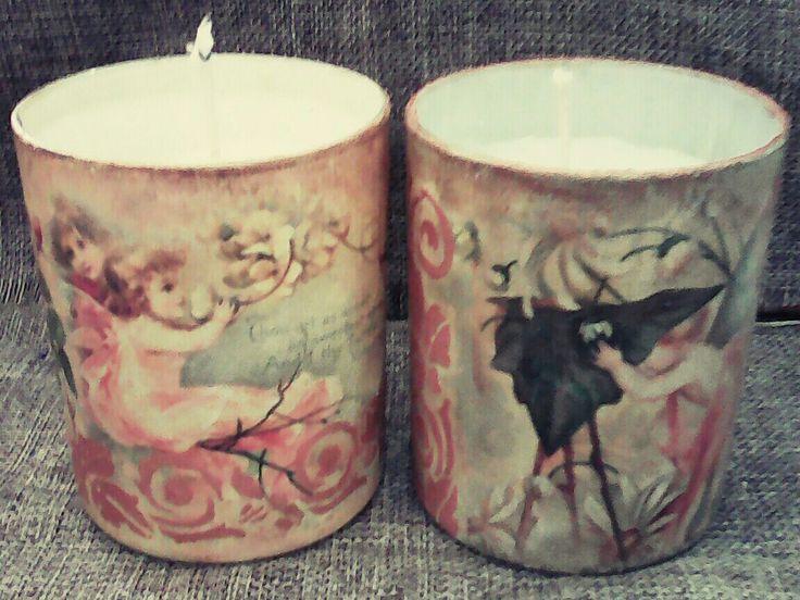 Ποτήρια με κερί vintage style 🎆🎆🎆