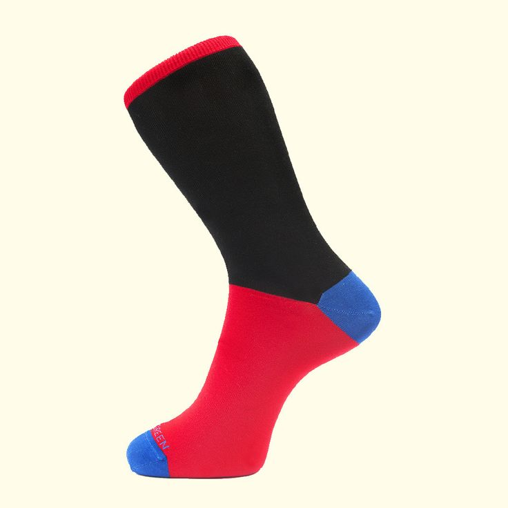 Block Colour Sock in Black