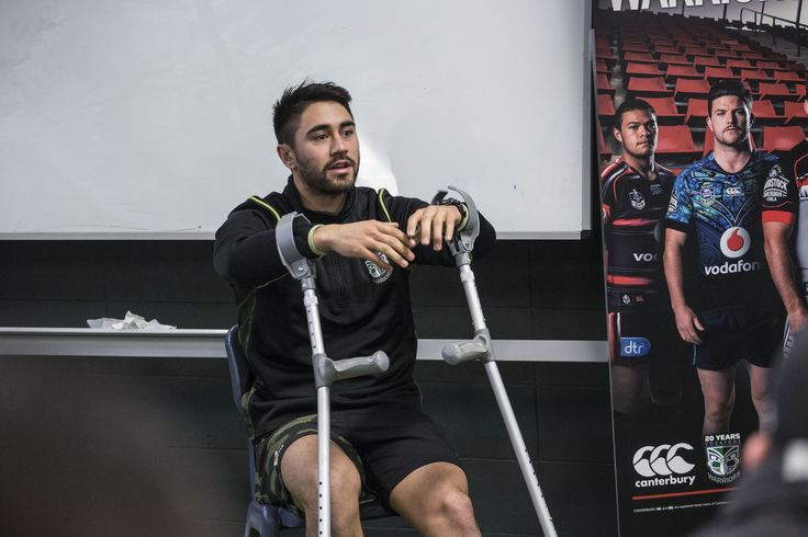 What a guy!  Even an injured Shaun Johnson made time to come down and meet the VIP competition winner fans as they trained with the Vodafone Warriors and met the coaching team.