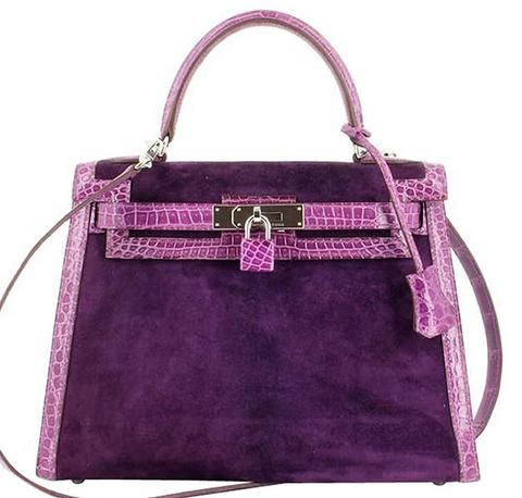 Hermes Kelly 28 Bag Veau Doblis Crocodile - Browse our full collection!  #baghunter