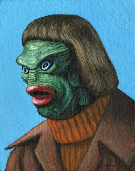 Iconic horror film monsters given 1970s make-overs. Click to see more of them.